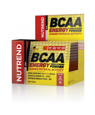BCAA  4:1:1 Energy Mega Strong, NUTREND, апельсин, 20х12,5 гр