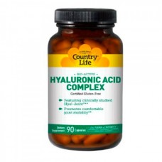Гиалуроновая кислота Hyaluronic Acid Complex, Country Life, 90 капсул