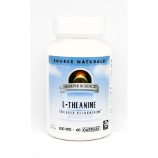 Теанин 200мг, Serene Science, Source Naturals, 60 капсул
