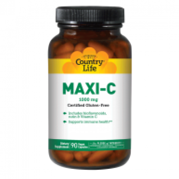 Витамины Country Life MAXI-C CAPS, 1000 mg, 90 caps (Макси С 1000 мг)