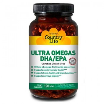 Натуральный комплекс Country Life ULTRA OMEGAS DHA/EPA, 120 caps (Ультра Омега DHA/EPA)