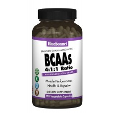 BCAAs 4:1:1, Bluebonnet Nutrition, 120 капсул
