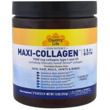 Коллаген 1 и 3 Типов + Биотин, Maxi Collagen, Country Life, 7,5 унций (210 гр)