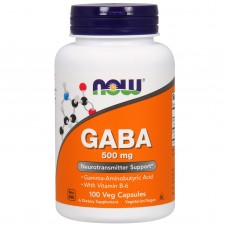 GABA, Now Foods, 500 mg, 100 caps (Гамма - Аминомасляная Кислота, 500 мг, 100 капсул)